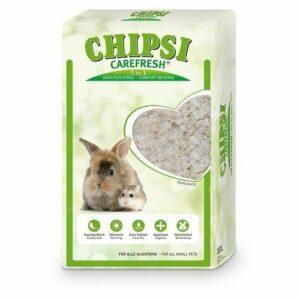 CHIPSI CAREFRESH Pure White белый бумажный наполнитель для мелких домашних животных и птиц