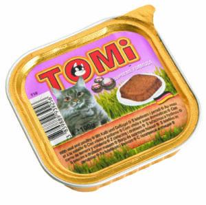 """""""TOMI"""" консервы для кошек  телятина с птицей"""