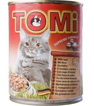 """""""TOMI"""" консервы для кошек  говядина"""
