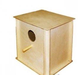 Домик гнездовой малый для птиц деревянный складной И-609