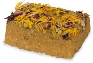 JR FARM Натуральный минеральный суглинистый камень с цветками д/грызунов 1шт