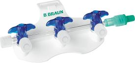 B.Braun Блок из 3 кранов Дискофикс С синий, линия 150 см