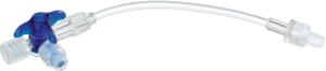 B.Braun Кран 3-ходовой Дискофикс С с Сэйффлоу, 360°, синий, линия 10 см