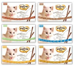 Мнямс Готовое решение: набор лакомств Ассорти для кошек + Дисплей-паразит