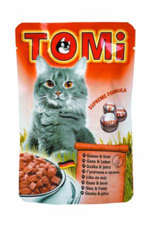"""""""TOMI"""" консервы для кошек-пауч гусь с печенью"""
