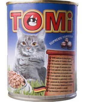 """""""TOMI"""" консервы для кошек лосось и форель"""
