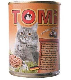 """""""TOMI"""" консервы для кошек  утка и печень"""