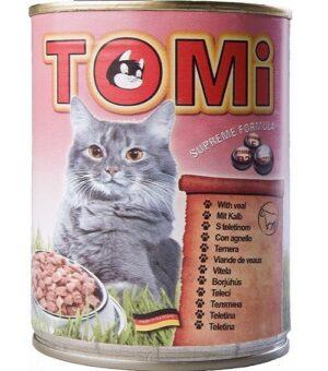 """""""TOMI"""" консервы для кошек телятина"""
