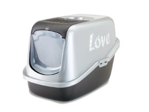 "Savic Туалет-домик  Nestor  Impression, серебристо-серый ""Love"""