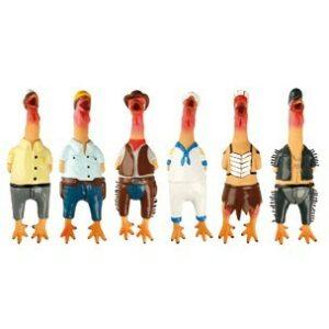 Flamingo Игрушка д/собак цыпленок в одежде 24 см латекс (уп-ка 6 шт.)