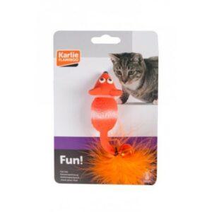 Flamingo  Игрушка д/кошки мышь латекс с мехом и звонком
