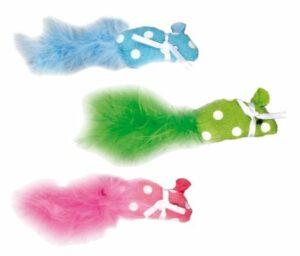 Flamingo  Игрушка д/кошки мышь с мехом и кошачьей мятой (уп-6 шт)