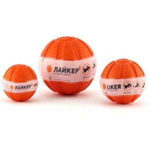 Лайкер Мячик LIKER, диаметр 9см, оранжевый