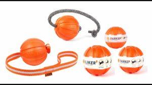 Liker Cord Мячик на канате для собак 5 см, оранжевый
