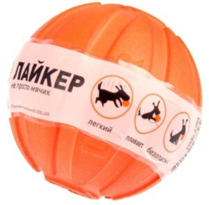 LIKER Мячик Лайкер диаметр 5см оранжевый