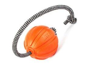 Liker Cord Мячик на канате для собак 7 см, оранжевый