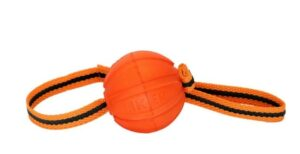 Liker Line Мячик на ленте для собак, 9 см, оранжевый