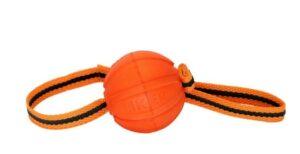 Liker Line Мячик на ленте для собак, 5 см, оранжевый