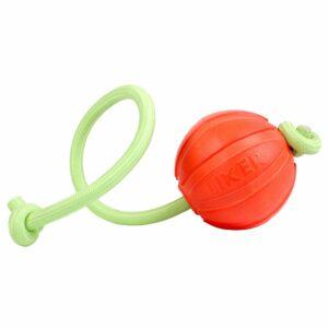 Liker Lumi мячик на светящемся в темноте канате для собак, оранжевый