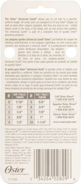 OSTER Universal Comb насадка для машинки