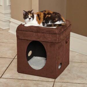 MidWest домик-лежанка для кошек Currious Cat Cube складной
