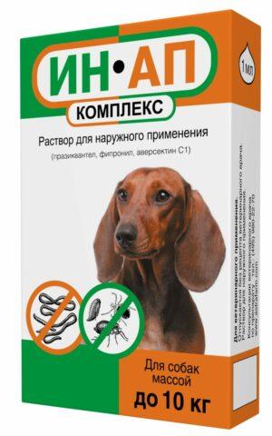 (Л) Ин-Ап Комплекс-капли д/собак и щенков до 10кг от блох