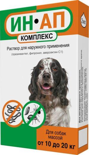 (Л) Ин-Ап Комплекс-капли д/собак от 10 до 20кг от блох