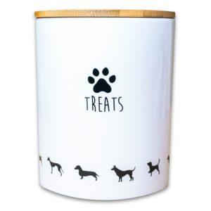 КерамикАрт бокс керамический для хранения лакомств для собак 1300 мл