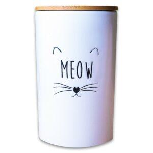 КерамикАрт бокс керамический для хранения корма для кошек MEOW 1700мл