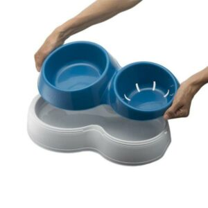 BAMA PET миска для собак двойная CIOTOLOTTO  синяя