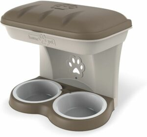 BAMA PET миска для собак настенная двойная MAXI  бежевая