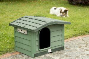 BAMA PET будка для собак BUNGALOW L  пластик, зеленая