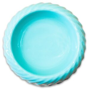КерамикАрт миска керамическая для животных  с волнами бирюзовый