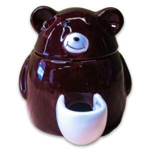 КерамикАрт кормушка для грызунов Мишка черная