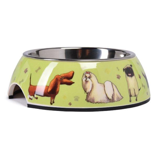 """SuperDesign миска на меламиновой подставке """"Собачки"""""""