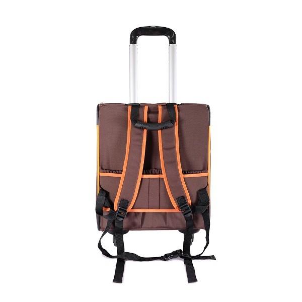 Ibiyaya тележка-трансформер Liso прямоугольная максимальный вес питомца коричневая/оранжевая