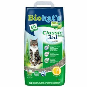 BIOKAT'S  CLASSIC FRESH наполнитель комкующийся c ароматизатором