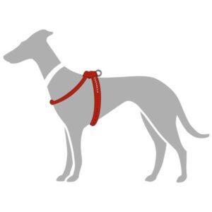 Hunter шлейка для собак Round & Soft Luxus Elk Petit  кожа, красный чили
