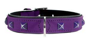 Hunter ошейник для собак Softie Kairo  кожзам, фиолетовый/черный