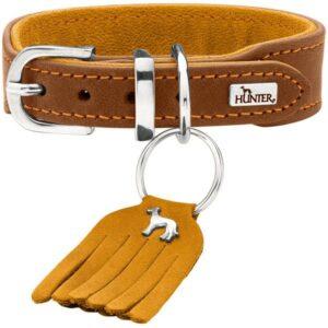 Hunter ошейник для собак Lucca Petit кожа, коричневый
