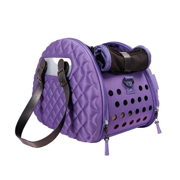 Ibiyaya складная сумка-переноска для собак и кошек  до 6 кг фиолетовая