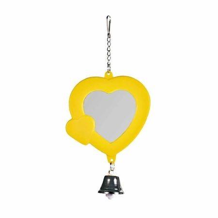 TRIXIE игрушка для попугая зеркало сердечко с колокольчиком