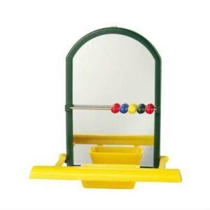 TRIXIE9 см игрушка для попугая зеркало с жердочкой 1х4