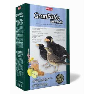 PADOVAN GRANPATEE fruits 1 кг корм универсальный для насекомоядных и плотоядных птиц с насекомыми 1х12