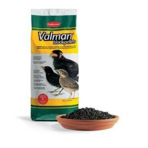 PADOVAN VALMAN black pellets 1 кг корм дополнительный для насекомоядных птиц 1х12