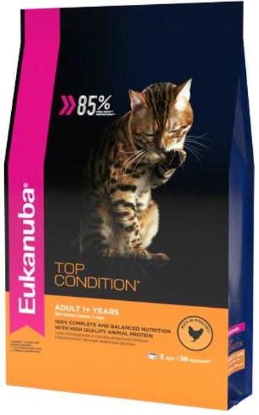 EUK Cat корм с домашней птицей для взрослых кошек 2 кг