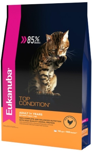 EUK Cat корм с домашней птицей для взрослых кошек 10 кг