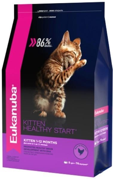EUK Cat корм с домашней птицей для котят 5 кг