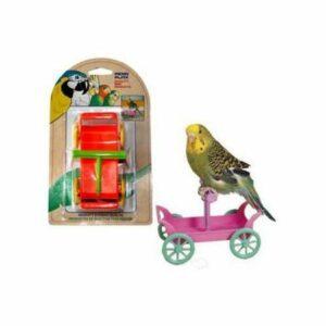 PENN-PLAX ТЕЛЕЖКА С ЖЕРДОЧКОЙ игрушка для птиц 1х12