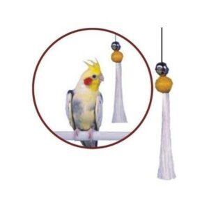 PENN-PLAX игрушка для птиц кисточка с бубенчиком большая 1х12